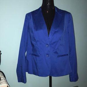 Lane Bryant 2 button royal blue blazer